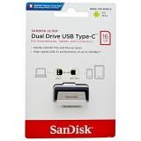 فلش سن دیسک مدل Dual Drive USB Type-C ظرفیت 16 گیگابایت